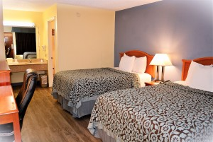 Double rooms - 2 Full size beds welcome you in Non-smoking or smoking
