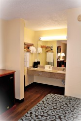 Accessible Double Room Vanity Area